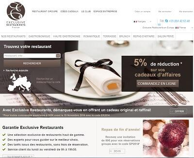 Exclusive Restaurants est un portail in tégralement dédié aux restaurants sur Paris.